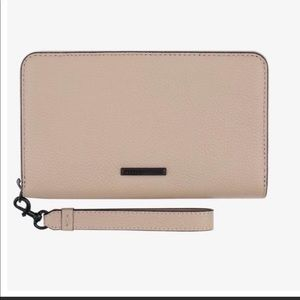Rebecca Minkoff Wallet and Phone Holder in Blush